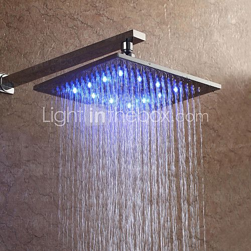 Contemporary Rain Shower Nickel Brushed Feature Rainfall Led Shower Head Brass 2020 Us 86 24 Led Color Changing Lights Shower Heads Color Changing Led