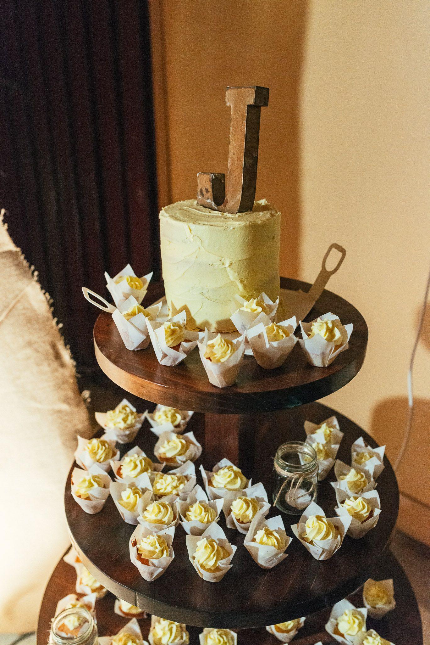 Rustic birthday cake & cupcakes