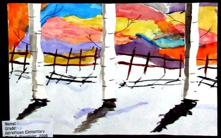 Winter Birches - Artsonia Lesson Plan