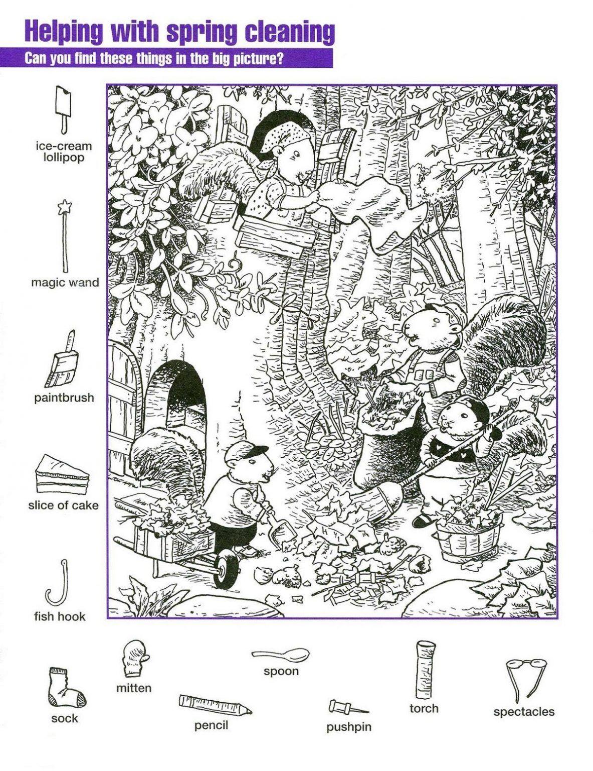 Hidden Pictures Worksheets For Kids
