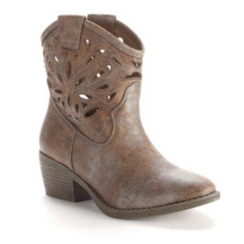 Dingo Womens Willie Ankle Cowboy Boots - Antique Tan | Tans ...