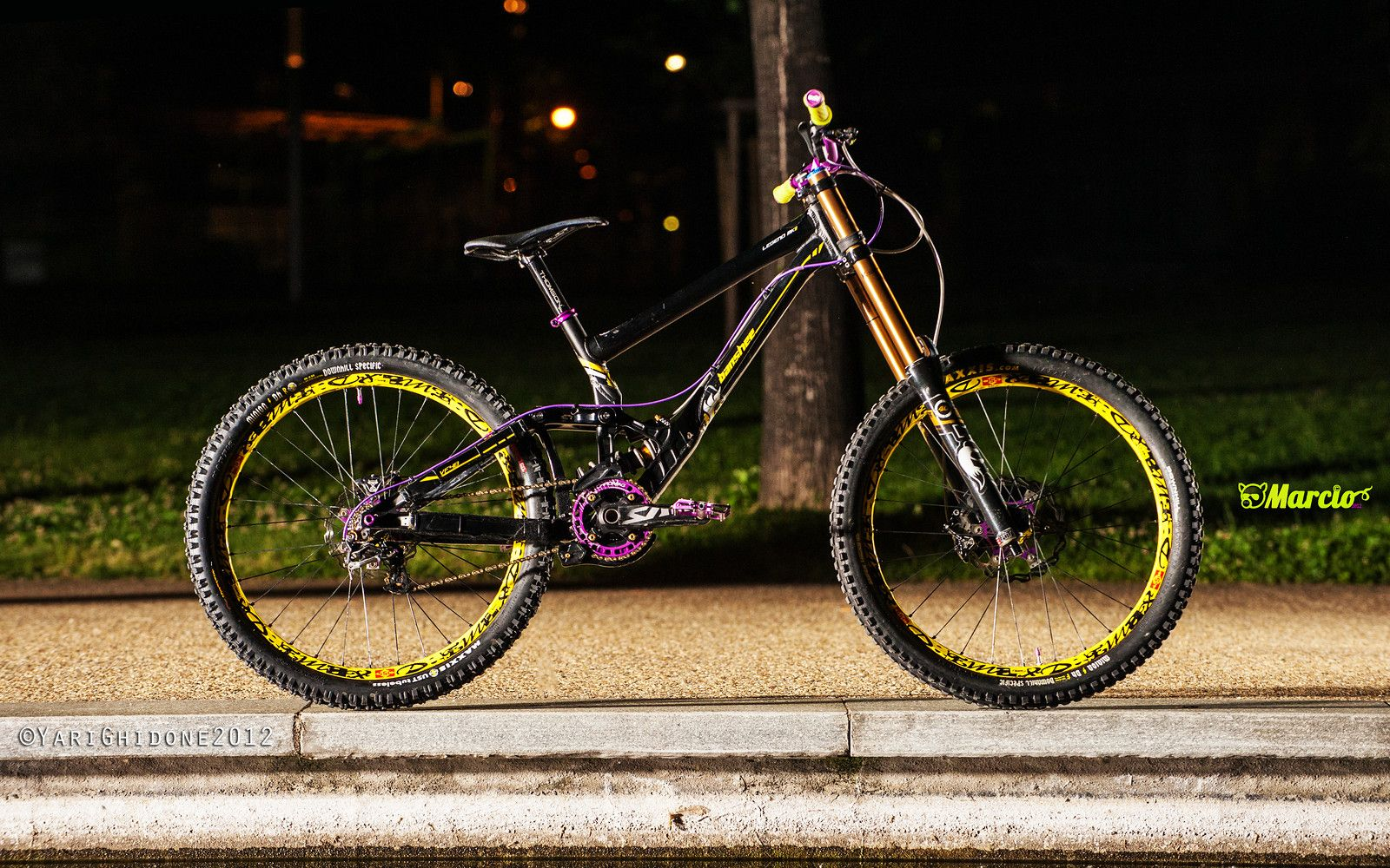 Banshee Legend MkII 2012 Black/Yellow/Purple - marci0's Bike Check - Vital MTB