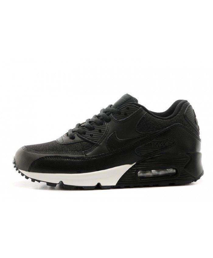 Femme Nike Air Max 90 Noir Blanc Chaussures Élégant léger, courrier gratuit  pour fournir vous