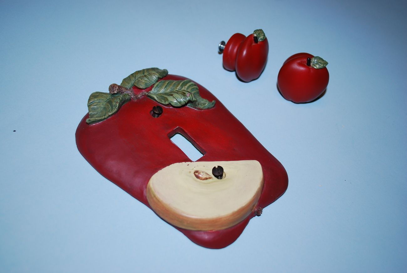 Apple Kitchen Decor Catalogs Knobs Switchplate Cover