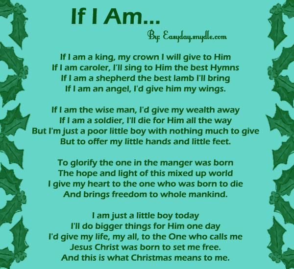 for those who want to teach their kids the true meaning of christmas here are some christian christmas poems for children that you may share to them