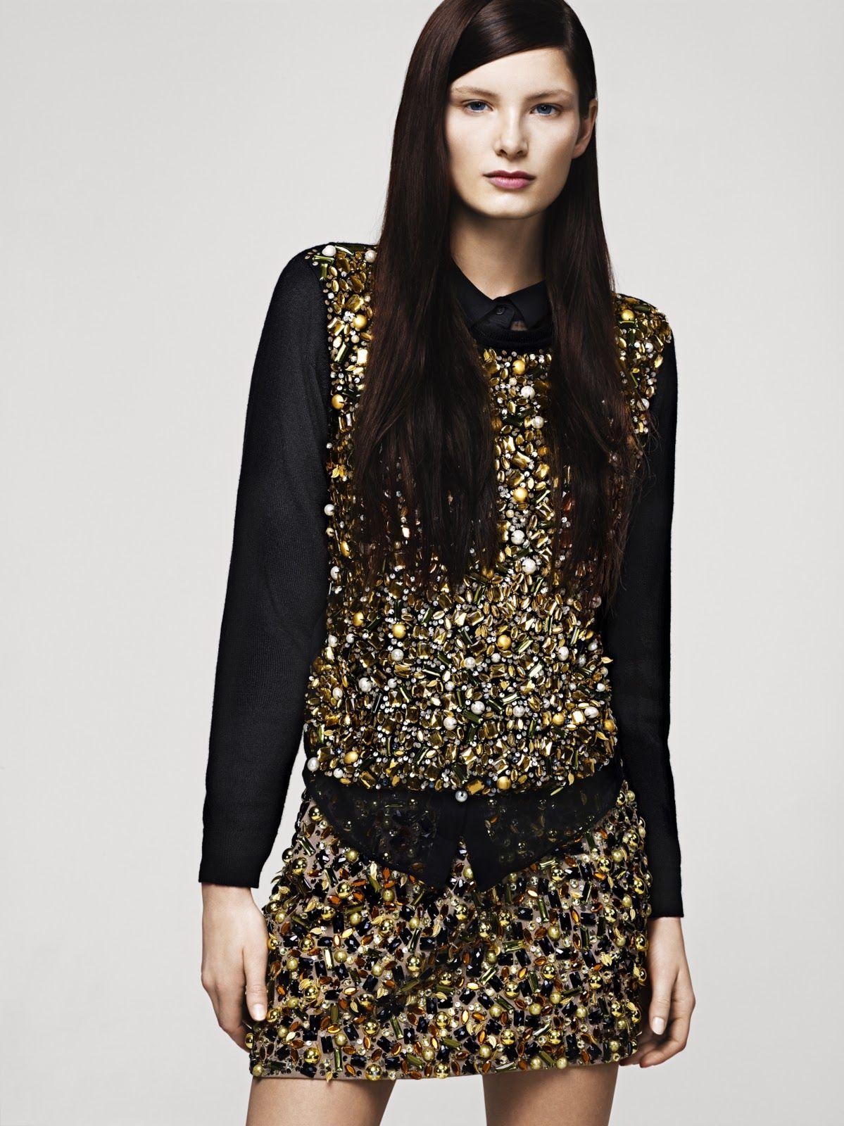 #Gold #Glitter #Model #Editorial #Campaign #HM #Black #Holidays #Style #Fashion #BiographyInspiration