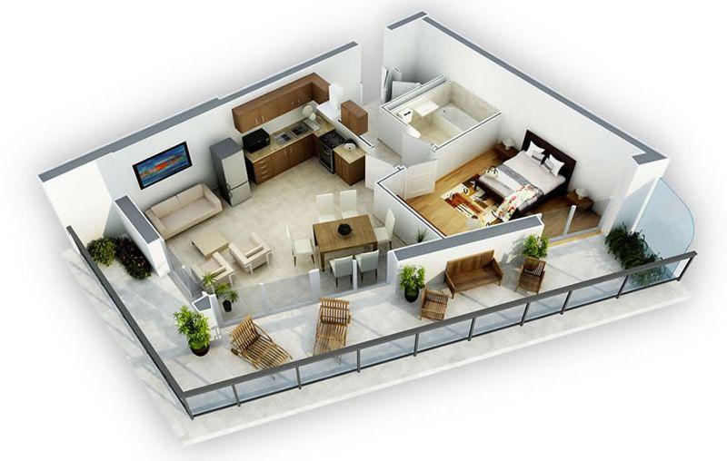 Planos 3d casas buscar con google casas pinterest - Planos de casas minimalistas ...
