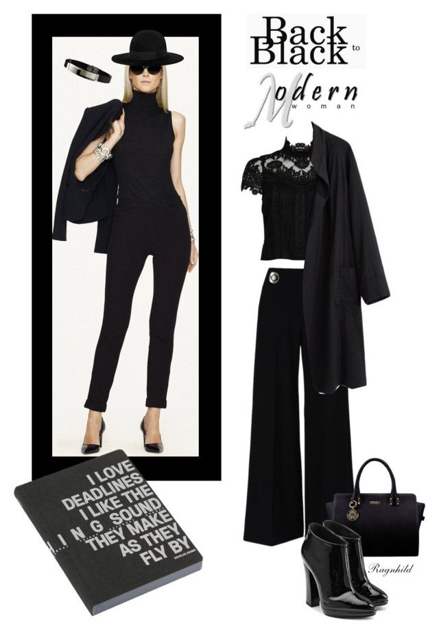 """Black  Fashion"" by ragnh-mjos ❤ liked on Polyvore featuring STELLA McCARTNEY, Alice + Olivia, La Garçonne Moderne, Yves Saint Laurent, Giuseppe Zanotti, Nuuna, contest, outfit and black"
