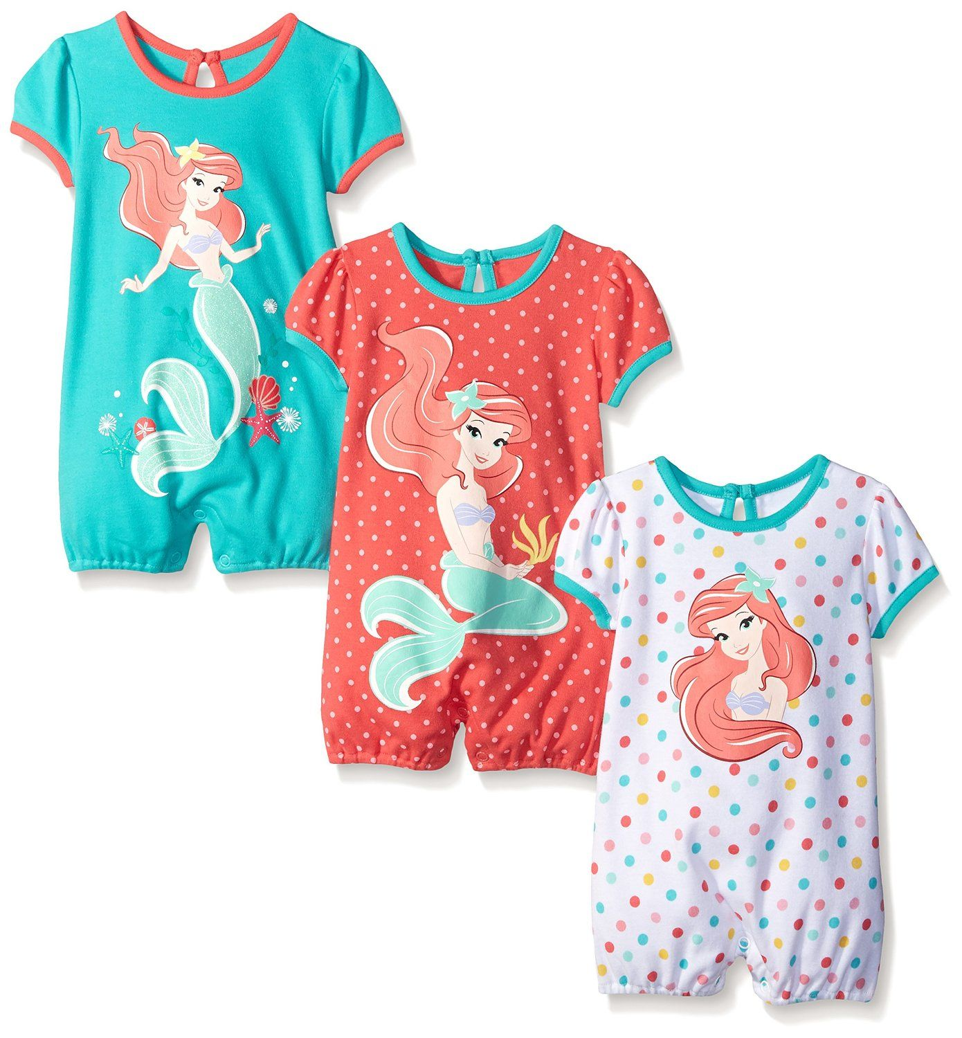 Amazon Disney Baby Girls Ariel The Little Mermaid 3 Pack