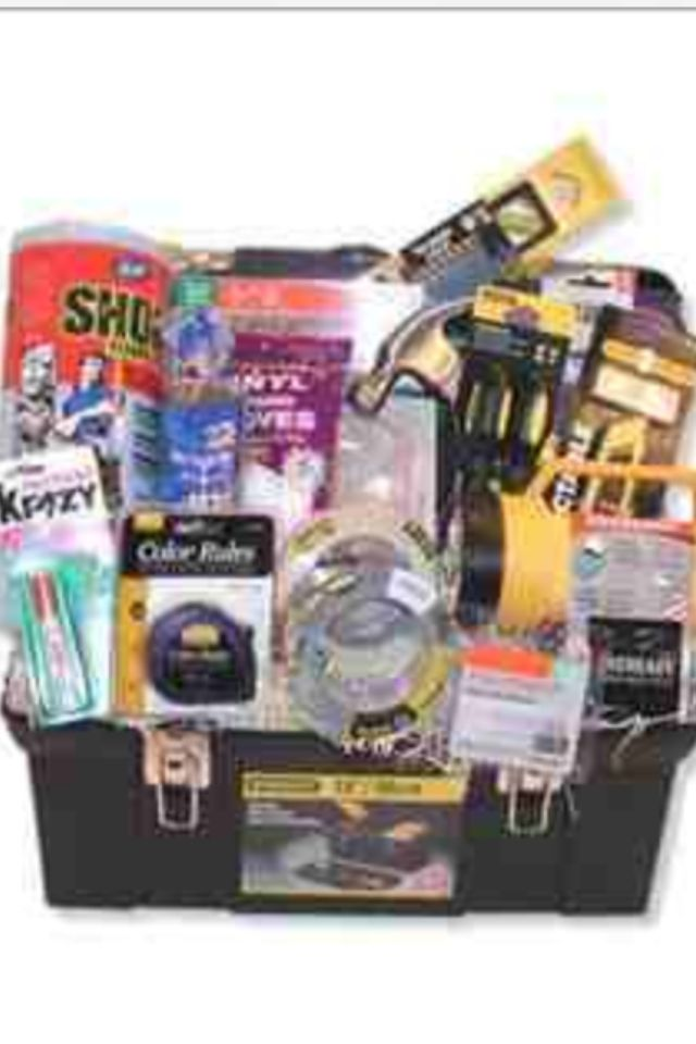 Handyman fundraising pinterest gift basket ideas and craft gifts toolbox gift basket i love non traditional baskets that go along with the theme of the gift great for your hubbys easter basket a new homeowner negle Image collections