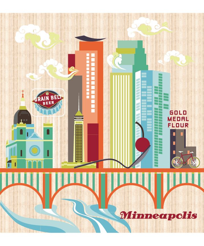 Minneapolis Poster Design/Illustration By Alexandra
