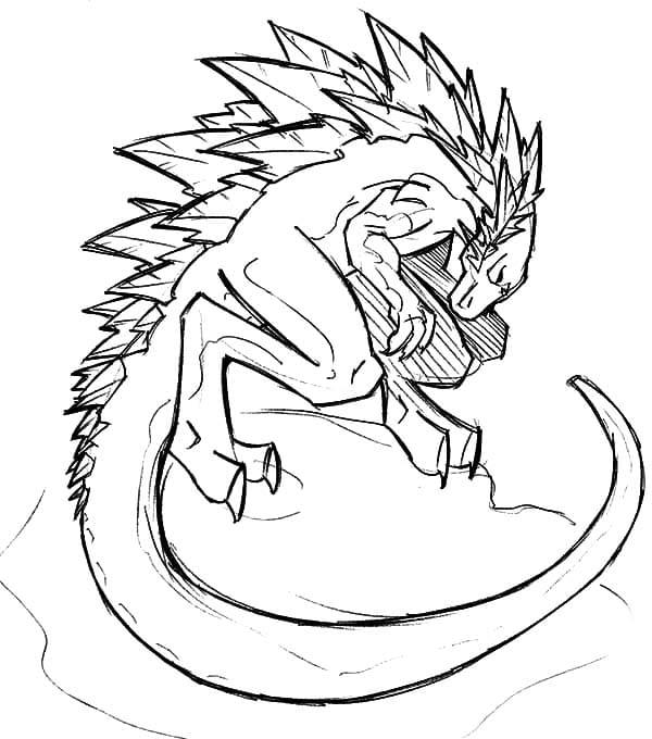 Dibujos de Godzilla para colorear. Imprimir monstruo ...