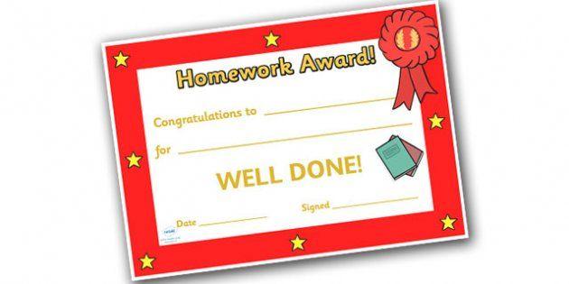 Editable Homework Award Certificate  Teacher Resources