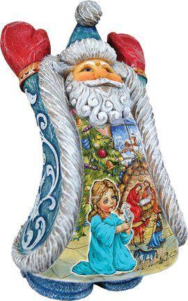 G. Debrekht Christmas Night Greeting's Santa. #SantaClaus #Santa #Claus #Christmas  #Figurine #Decor #Gift #gosstudio .★ We recommend Gift Shop: http://www.zazzle.com/vintagestylestudio ★