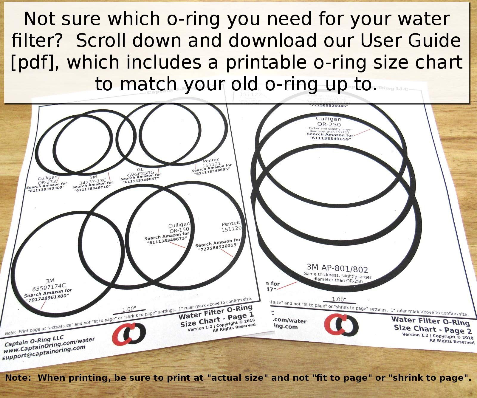 Captain O Ring Ge Kwge25rg Ws03x10038 Replacement Orings For Ge Gxwh01c Cxwh08c Gxwh04f Gxwh20f Gxwh20s Gxrm10 Ring Sizes Chart O Ring Rings