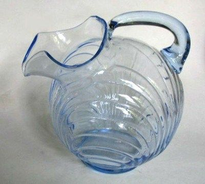 Cambridge Caprice Moonlight Blue, 80 oz. tilted ball pitcher with ice lip