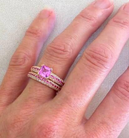 Diamond Wedding Rings · Pink Diamond Wedding Ring Set ...