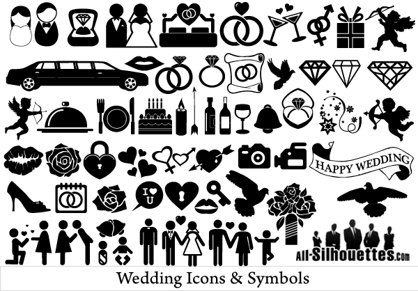 Free Vector Wedding Icons and Symbols | Free Vectors ...
