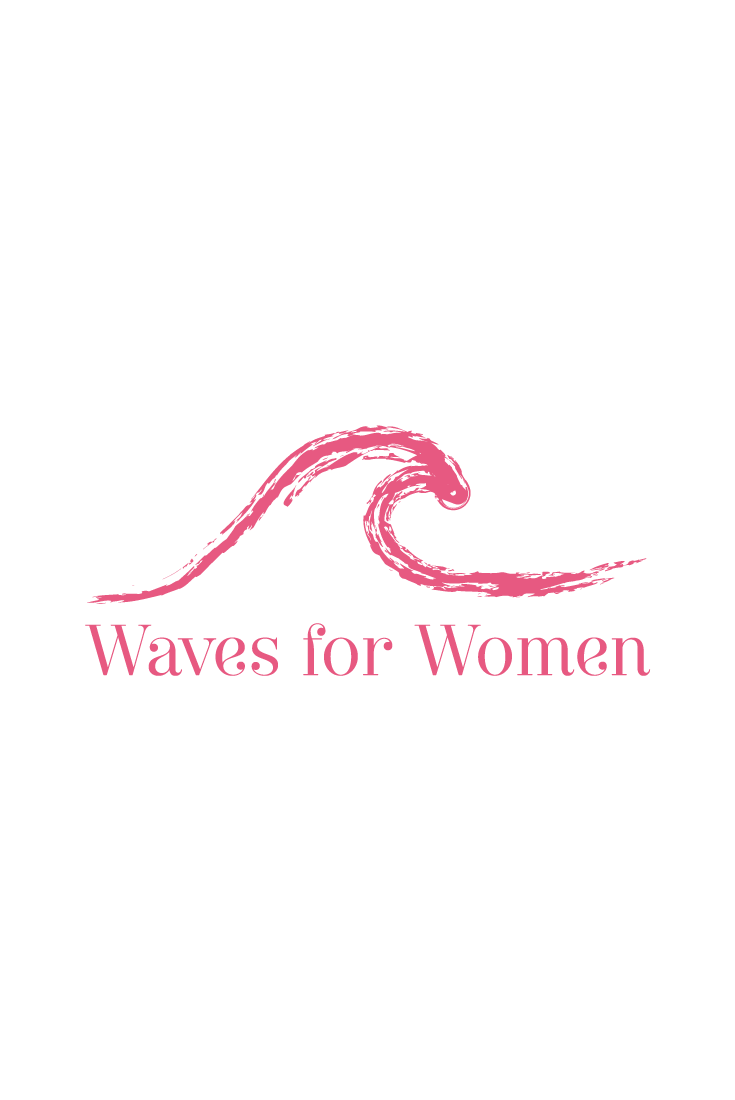 The Wave Nanaimo >> Pink Wave Logo Design For Waves For Women Two Women Swim