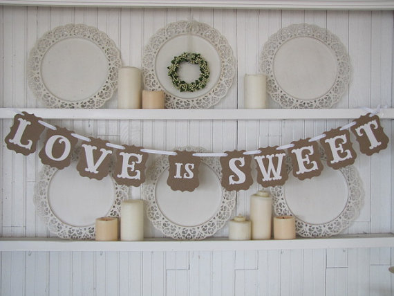 Love Is Sweet Banner For Weddings Receptions Parties And Wedding Photos