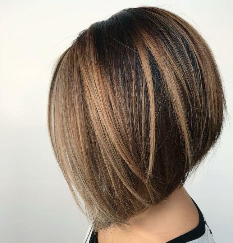 Mittellang Glatt Bob Frisuren Damen Haarschnitt Bob Bob Frisur Haarschnitt