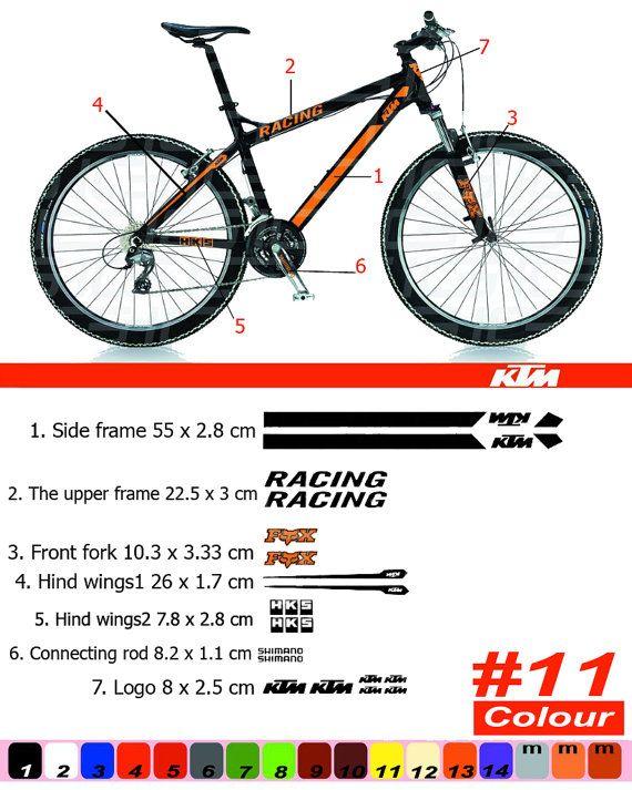 Ktm Bike Frame Sticker Autocollant Bicycle Mountain Restoration
