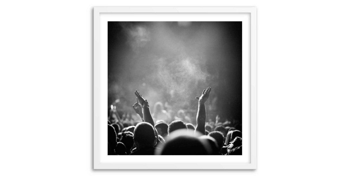 Add a festive feel to any room with this striking black and white image printed on fine art paper the work comes ready to hang in a sleek white frame