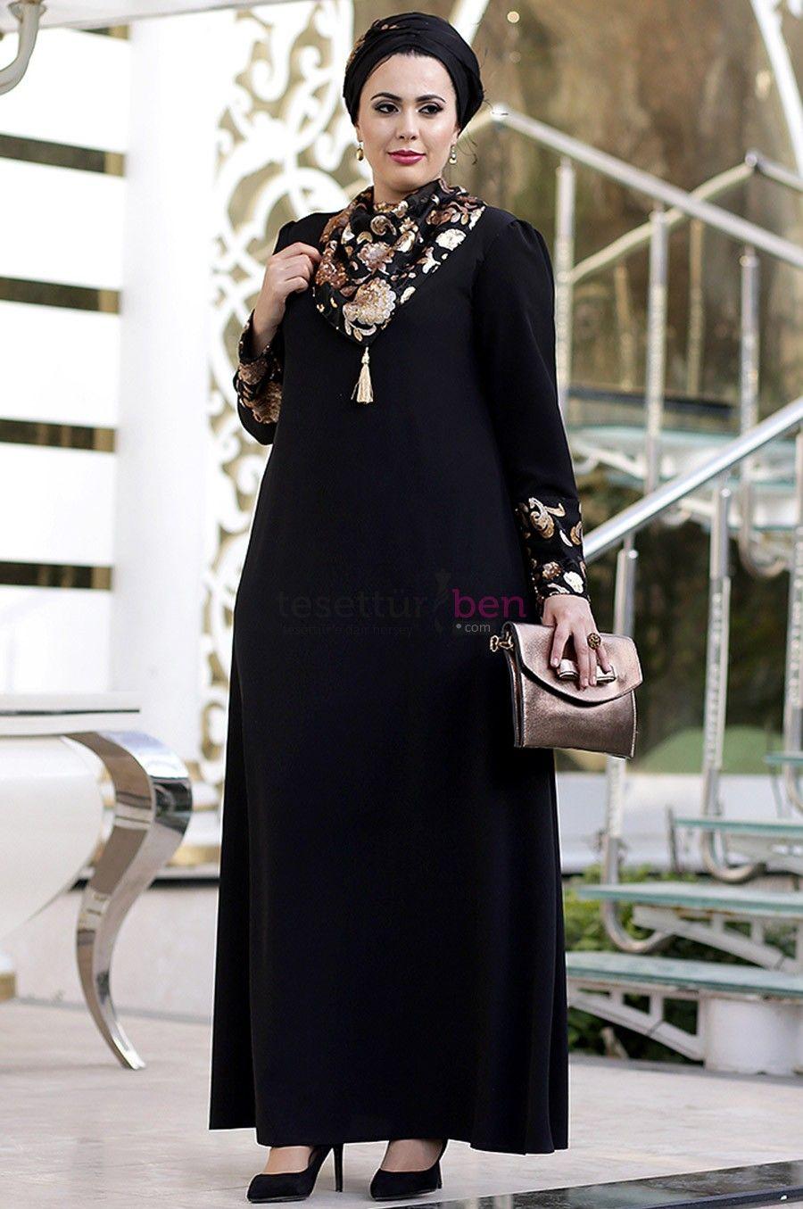 7f1b9f903b29d Büyük Beden Tesettür Abiye Elbise Modelleri Zarif Tesettür | Women's ...