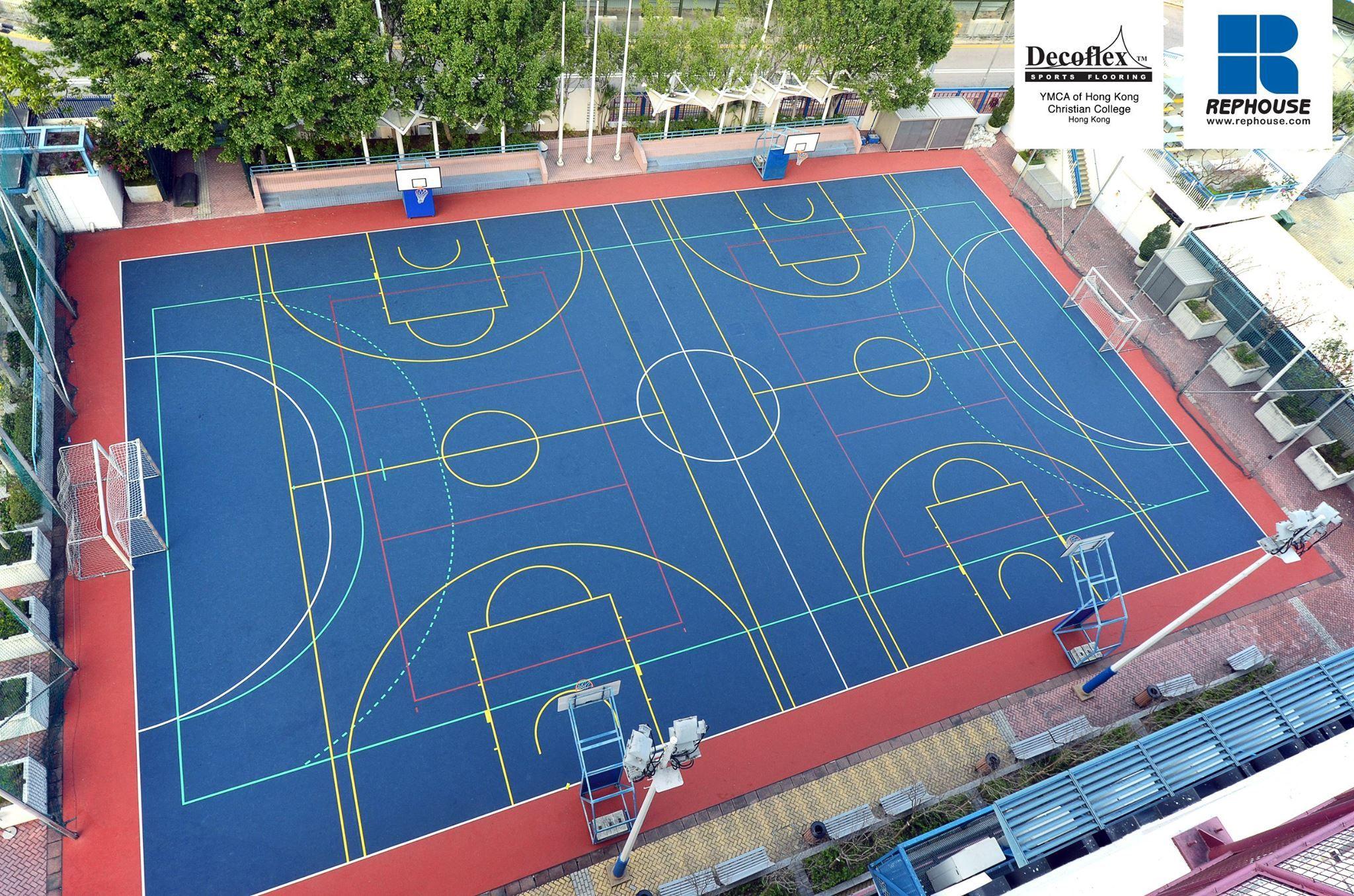 Decoflex D15 Outdoor Sports Flooring Ymca Of Hong Kong Christian College Hong Kong Sports Complex Christian College Ymca
