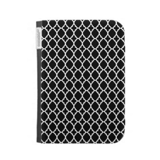 Black and White pattern Kindle folio Kindle Keyboard Cases