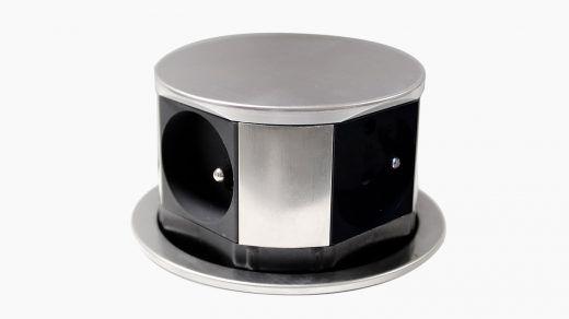 Bloc Escamotable Compact Inox 4 Prises Diamètre 100mm