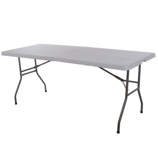 6 Adjustable Height Multipurpose Center Folding Table With Carrying