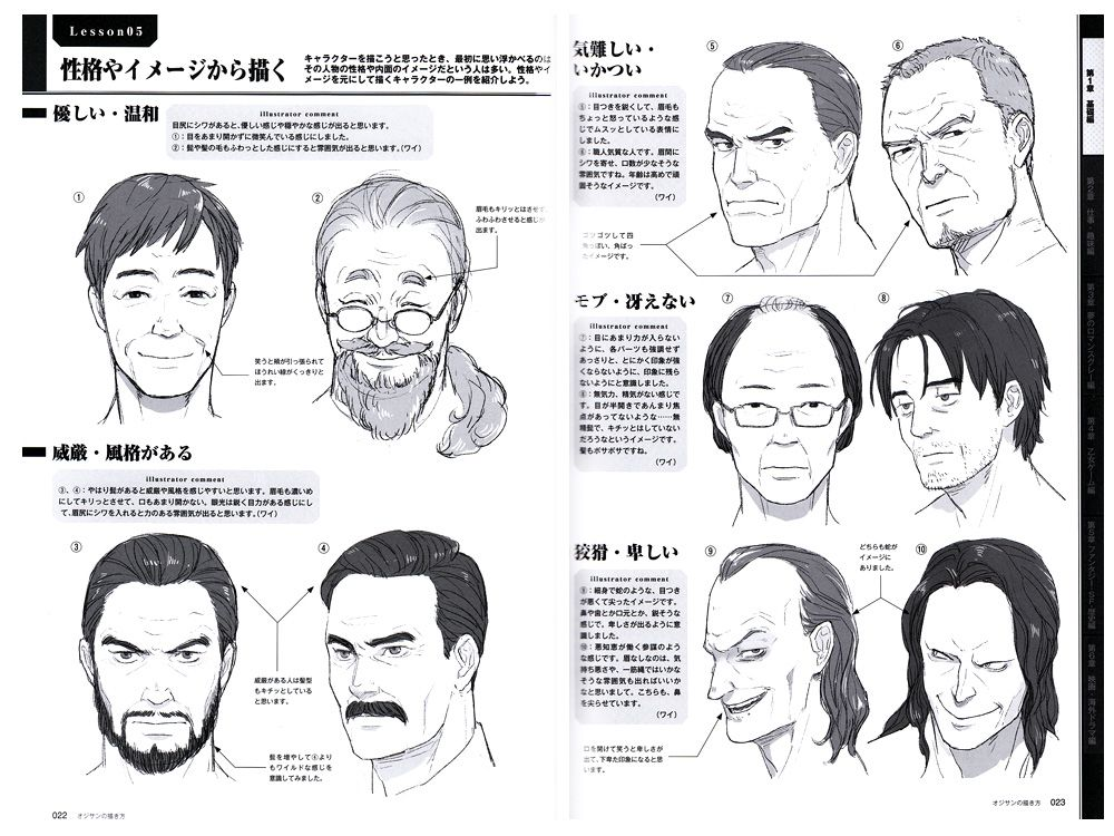 How To Draw Ojisan Reference Book Male Face Drawing Anime Male Face Anime Faces Expressions