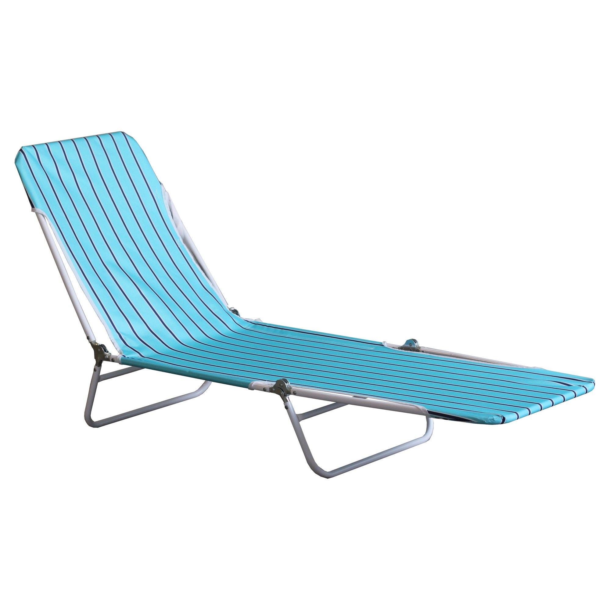 Beach Lounger Blue Core Stripe Room Essentials Blue