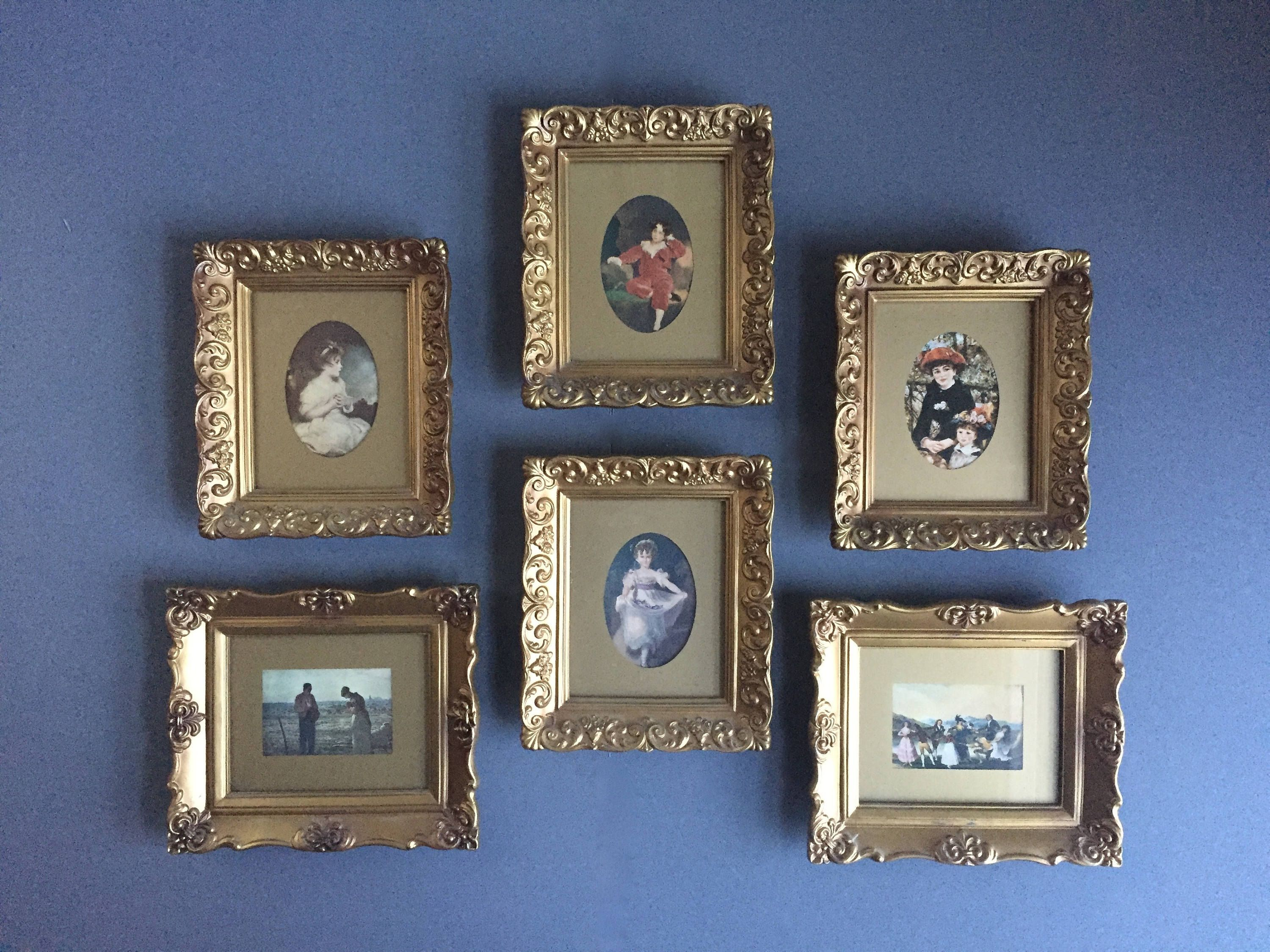 Small Framed Art Collection Mini Masterpieces Etsy Small Framed Art Framed Art Small Frame