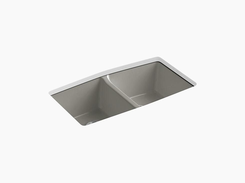Kohler K 5846 5u Brookfield 33 Cast Iron Kitchen Sink
