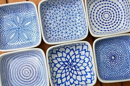DIY hand-painted ceramic tealight holders by Sew Much Fun