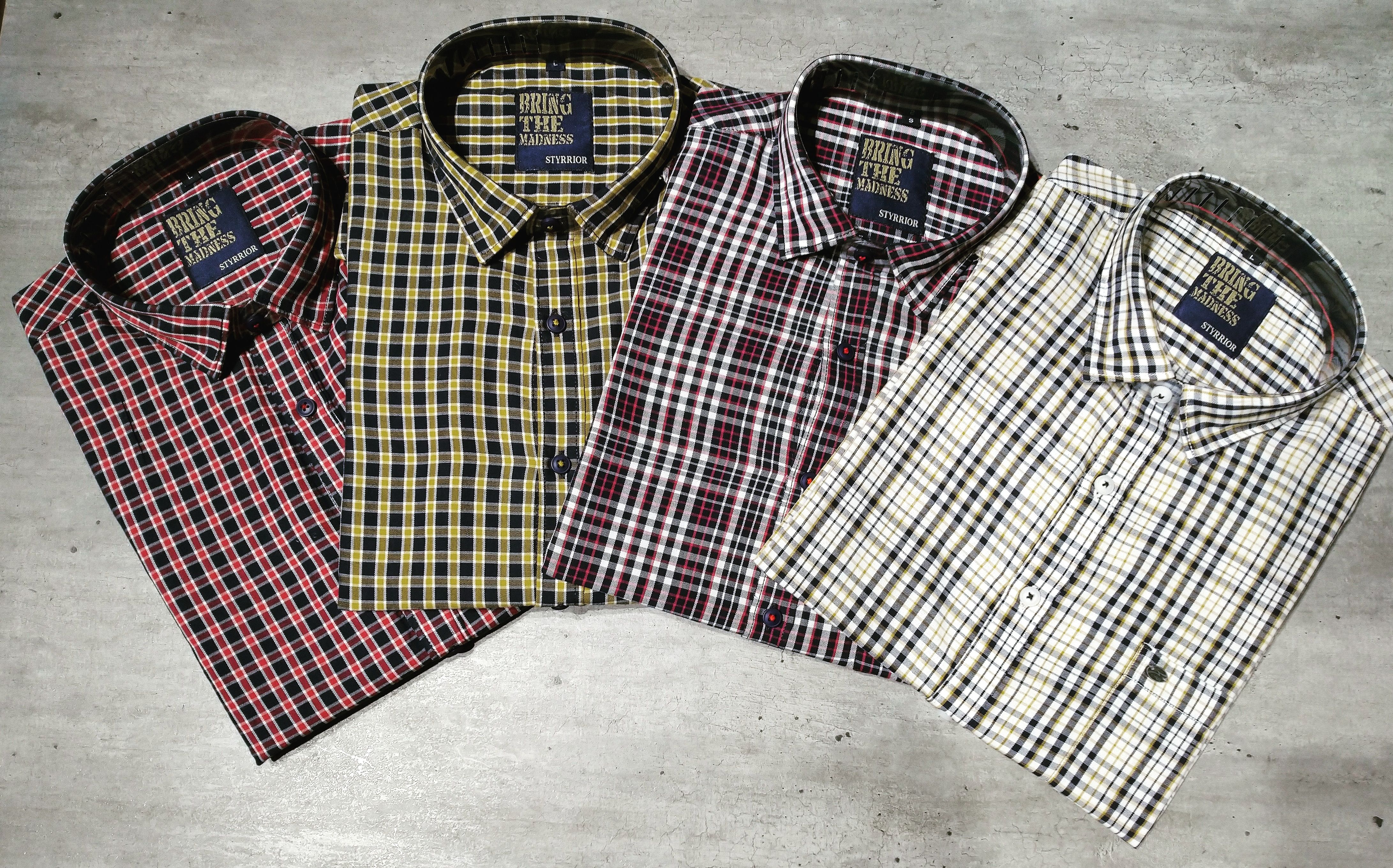 Sale Bold Checks Colourful Checked 100/% Cotton Madras Check Fabric