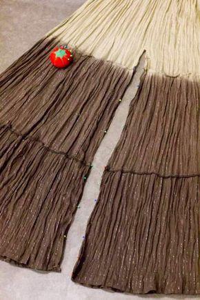7e457e5ca DIY: transformar una falda larga en un pantalón palazzo   Crafts ...
