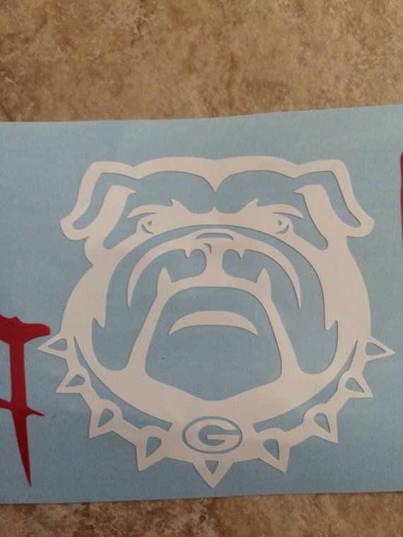 2 7/'/' Dawg Life Vinyl Car Decal Sticker Laptop Georgia Bulldogs