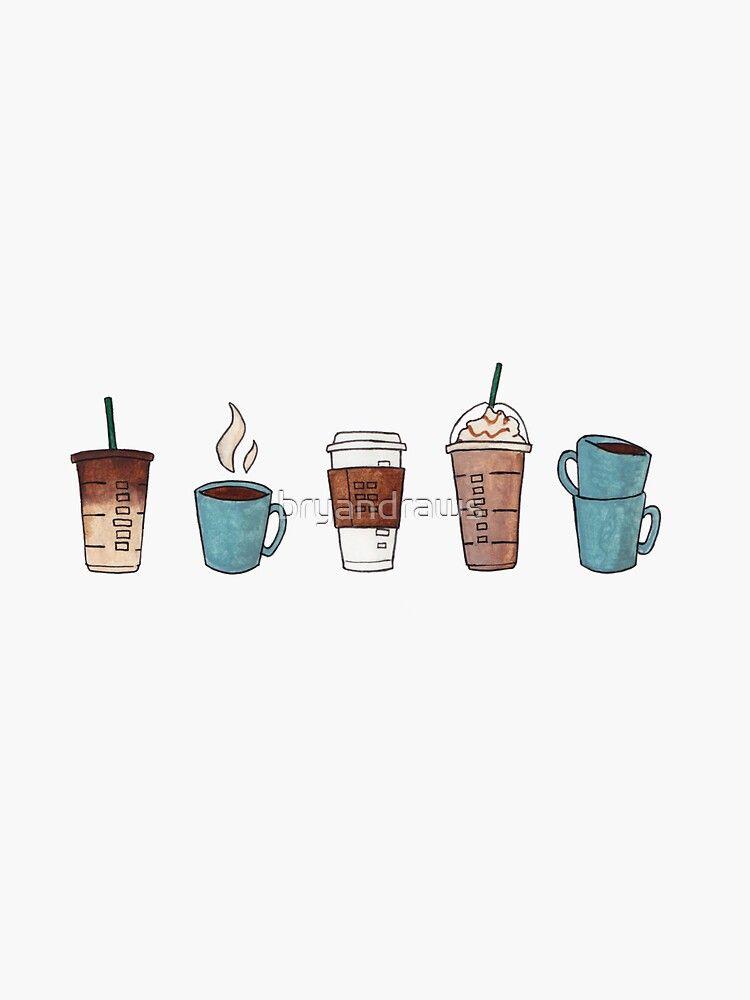 'Coffee?' Sticker by bryandraws