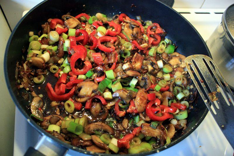 Grønnsak Chop Suey Vegetar Asiatisk Wok