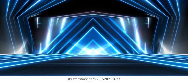 Abstract Light Tunnel Blue Background Stage Stock Illustration 1528211627abstract