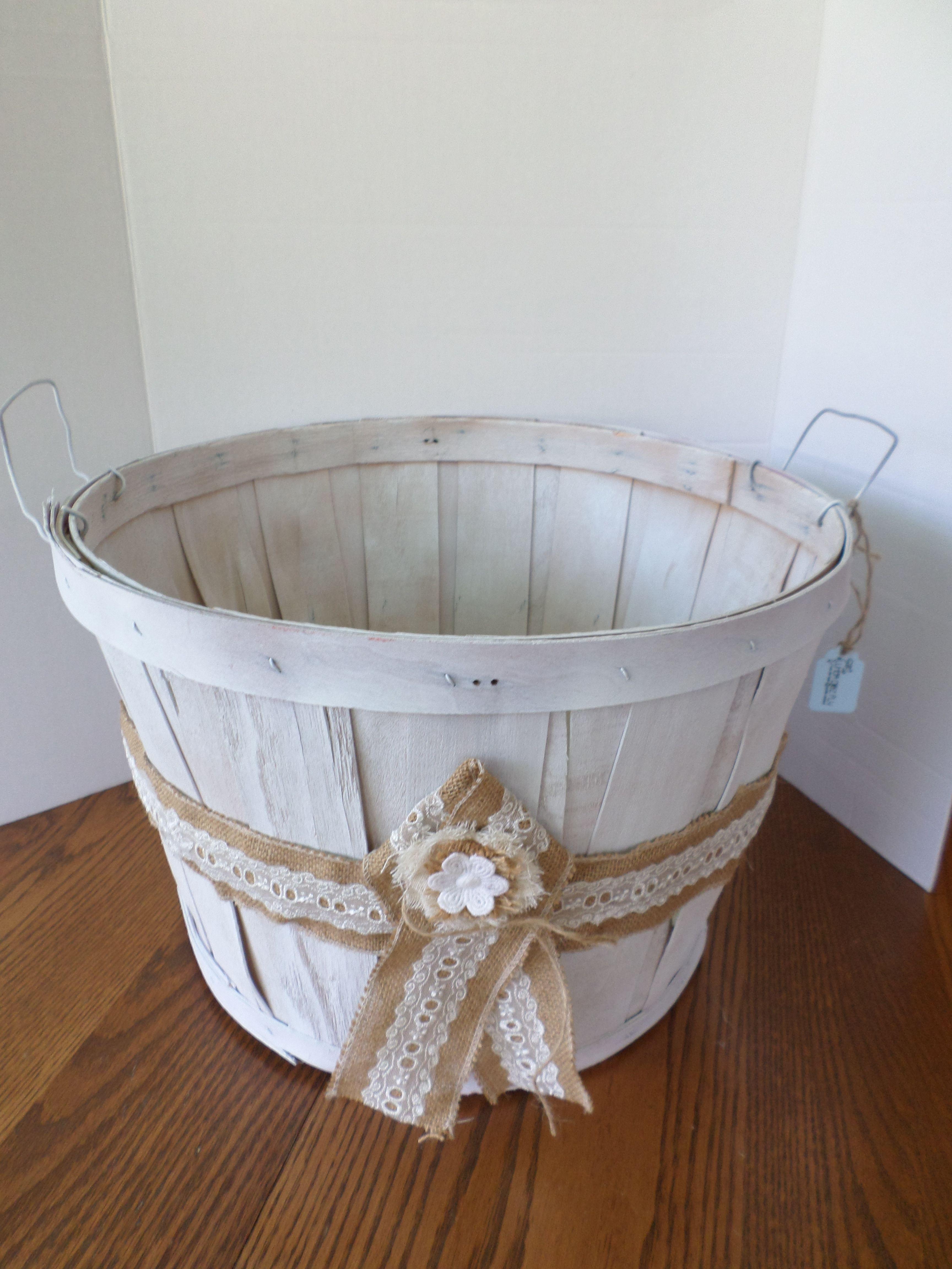 Upcycled Bushel Basket Basket Makeover Apple Baskets Basket