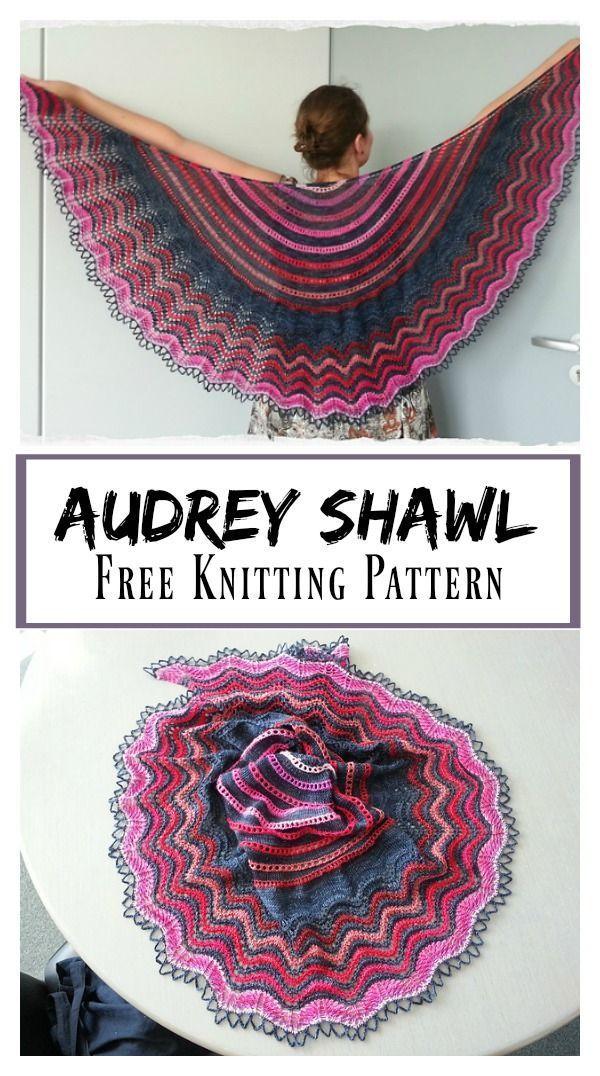 Photo of Audrey Lace Shawl Free Knitting Pattern #freeknittingpattern #shawl #Aufbewahrun…
