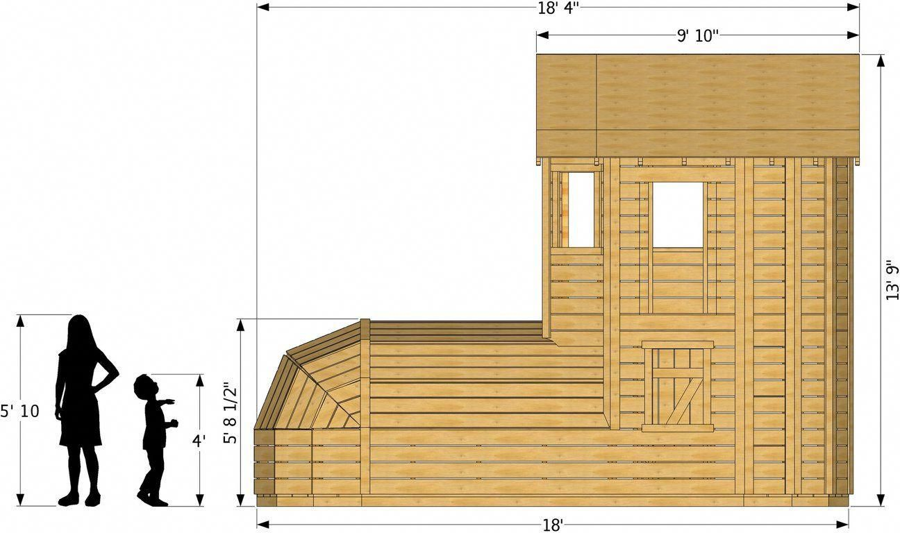 Side isometric view of wooden shoe playhouse plan buildaplayhouse also rh pinterest