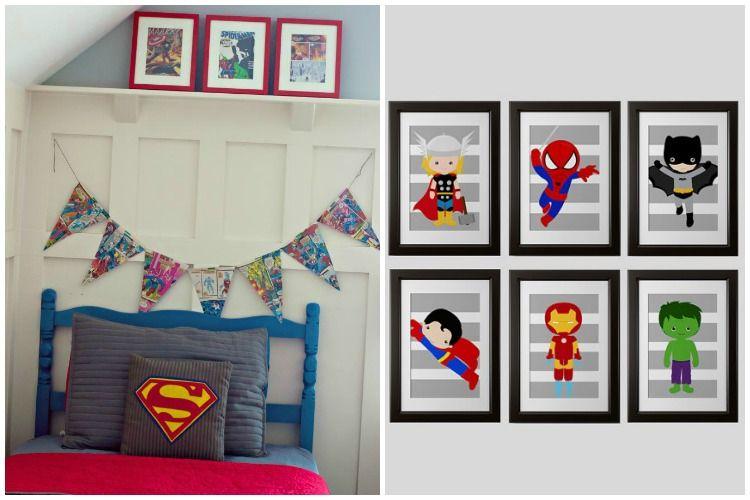 Inspirações para Quarto de Menino  Meninas super, Quartos menina e Super herói