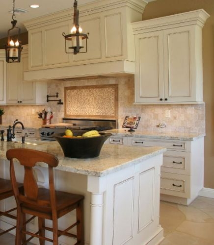 Two For Tuesday Marble Accessories For The Kitchenwhite: Applied Molding Off-White Kitchen Cabinets With Chocklate