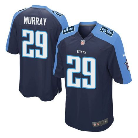 Men s Tennessee Titans  29 DeMarco Murray Navy Blue Stitched Nike NFL Home Elite  Jersey 7403c892c