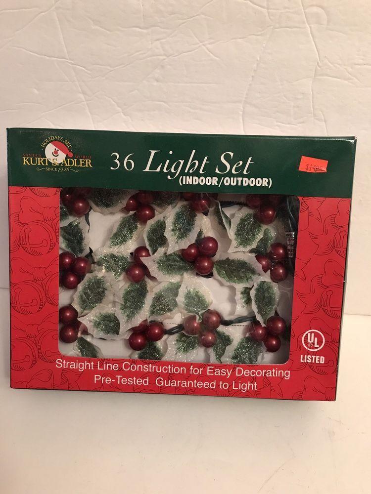 vintage christmas 36 light string Kurt Adler Holy Berry Light string